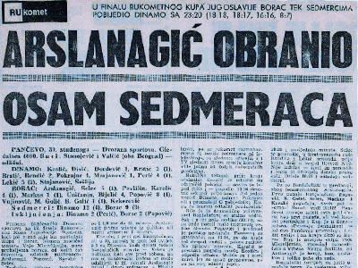 1969 – Prvi put osvaja kup Jugoslavije s RK Borcem